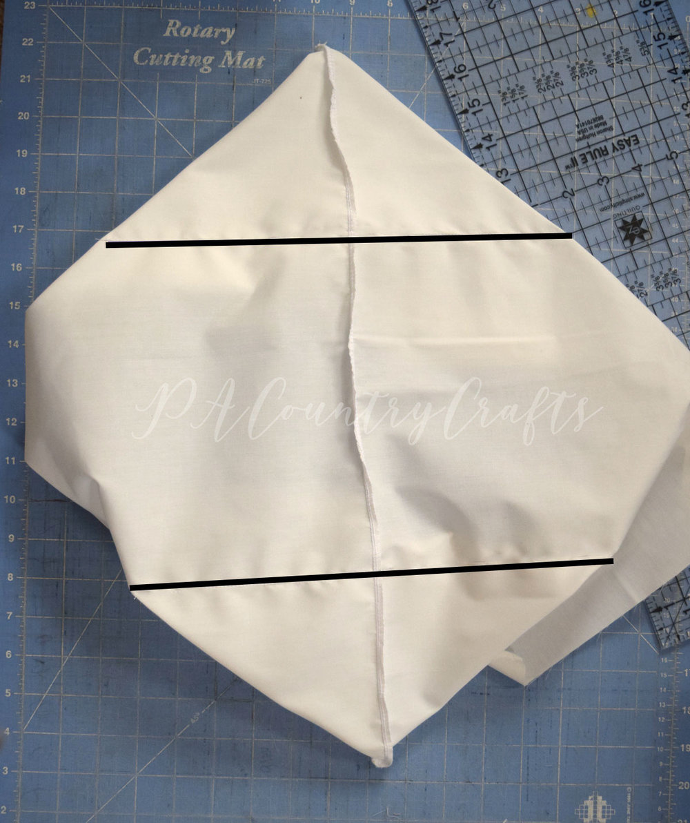 How to sew a basket liner from two pieces of fabric