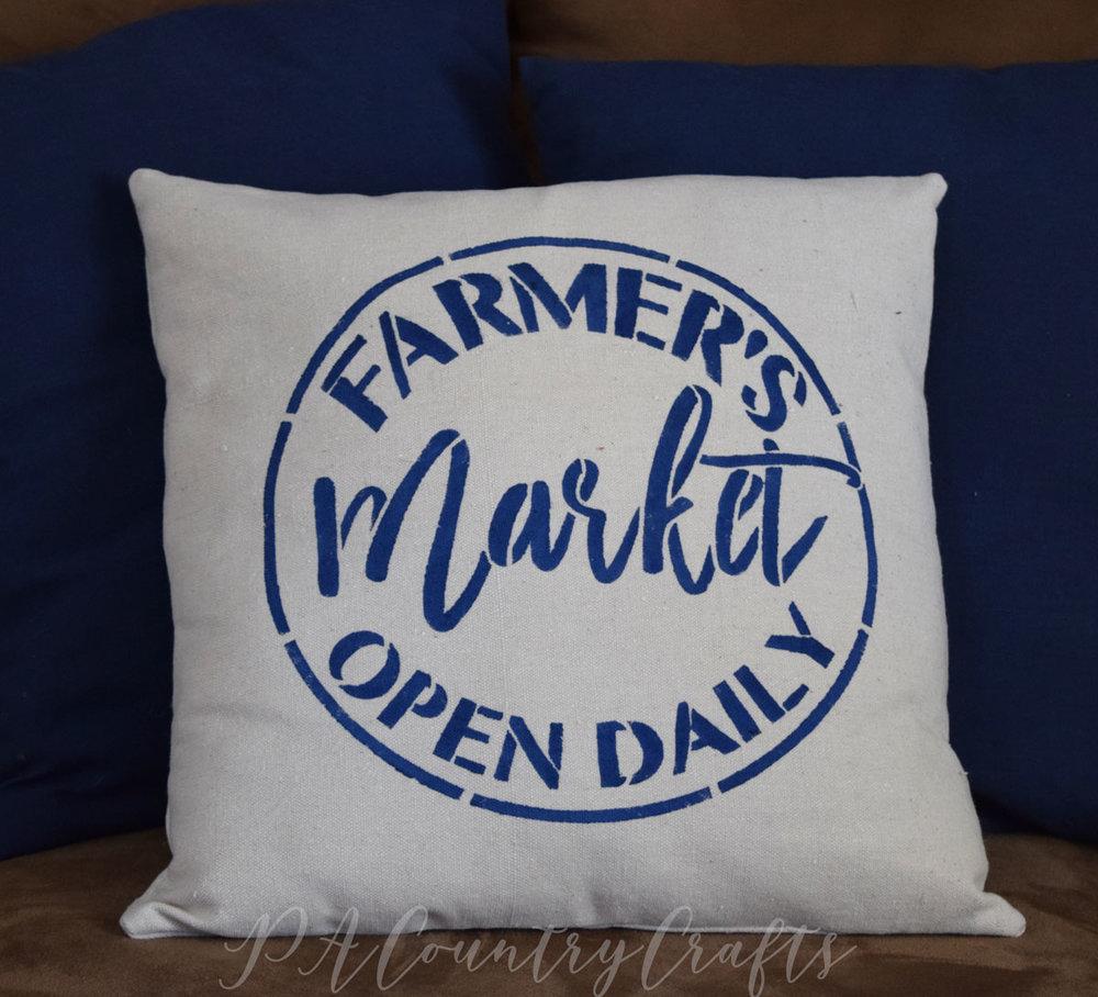 Drop Cloth Farmhouse Pillows