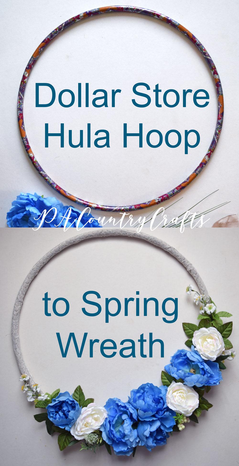 Dollar Store Hula Hoop to Spring Wreath