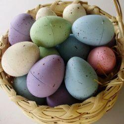 Painted Plastic Easter Eggs