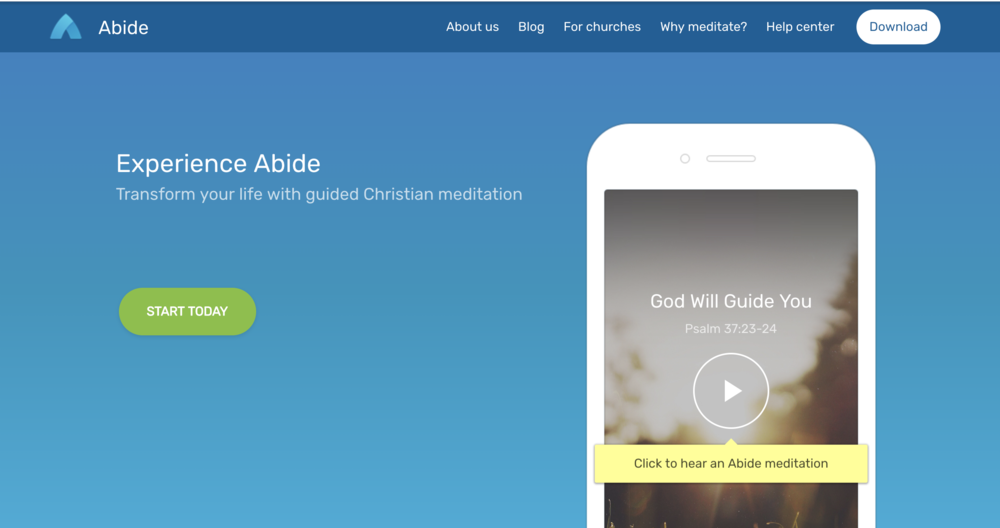 abide: christian meditation - {Click image to download free app}