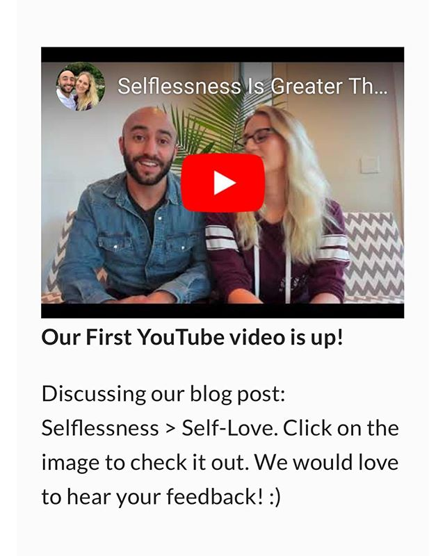 Hey check out our 1st #youtube video, where we discuss our article {Selflessness   Self-Love} on the blog at www.safeinjesus.com 📹😀 @youtube  What are your thoughts on this topic? We would love to hear your feedback!  We will be making many more videos to come, on a variety of topics. . . . . #safeinjesus #love #god #jesus #bible #scripture #christianity #christianblog #christiancommunity #christianfellowship #church #holyspirit #bloggers #blog #love #instagood #photooftheday #beautiful #happy #follow #instadaily #repost #smile #life #beauty #instagram #photography #lifestyle #inspiration #youtube #youtubers