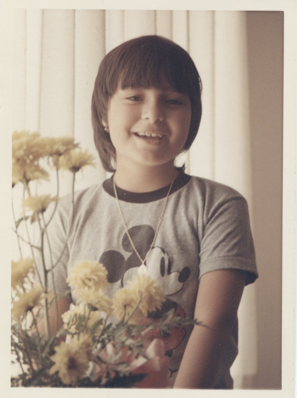 Me in 1971, sporting one of my earliest and most treasured souvenirs: my first Mickey Mouse t-shirt, direct from Disneyland. PHOTO: George Sanso