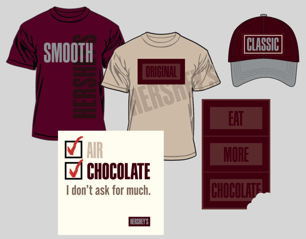 """Hershey's Chocolate """"Verbiage"""" collection"""