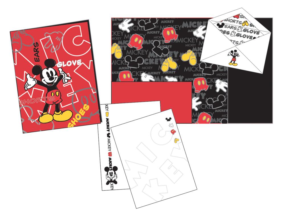 """Mickey Body Parts"" stationery set"