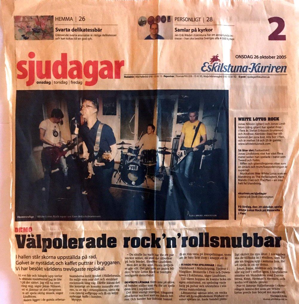 Eskilstuna Kuriren - Interview in Eskilstuna Kuriren 2005-10-26.