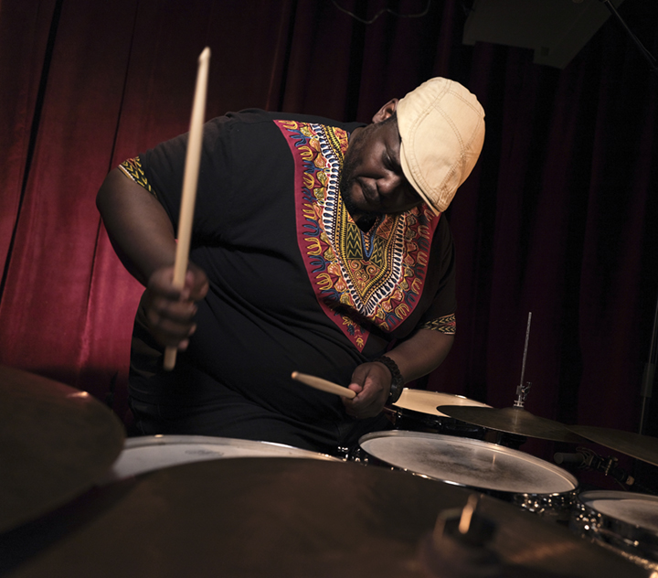 "Johnathan Blake, one of the most accomplished drummers of his generation, has also proven himself a complete and endlessly versatile musician — ""the ultimate modernist,"" as John Murph of NPR has dubbed him.  Blake has honed his musicianship as a long standing member of the Tom Harrell Quintet, the Kenny Barron Trio and other top ensembles, to emerge as a band leader in his own right.  His Giant Step Arts project is TRION, a spectacular trio of forward thinking musical collaborators featuring tenor saxophonist Chris Potter and bassist Linda May Han Oh.   www.johnathanblake.com"