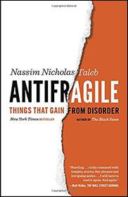 book cover, Antifragile