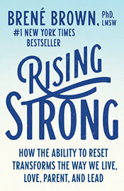 book cover, Rising Strong