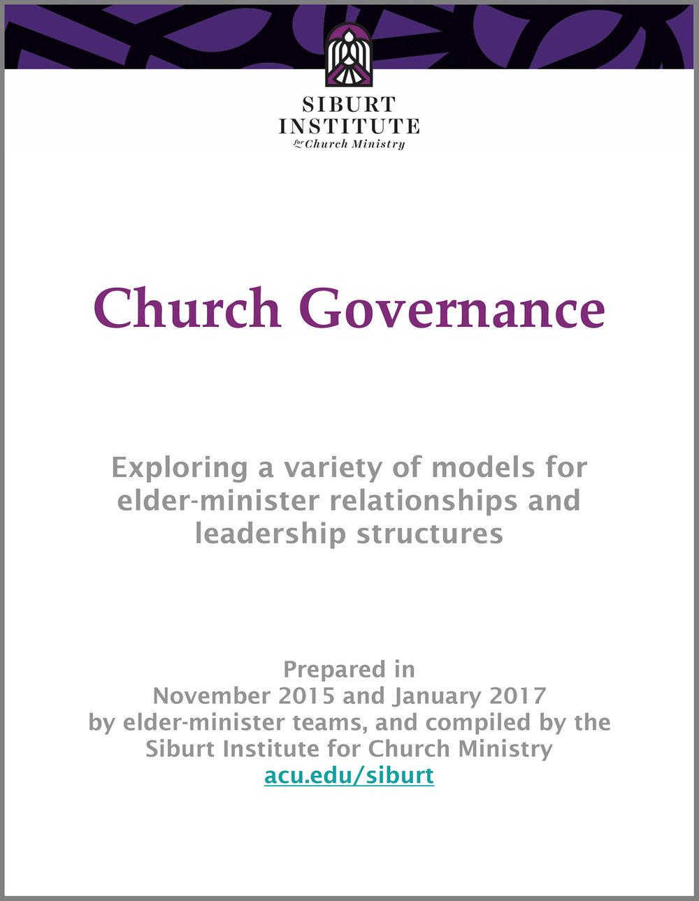 Church Governance document