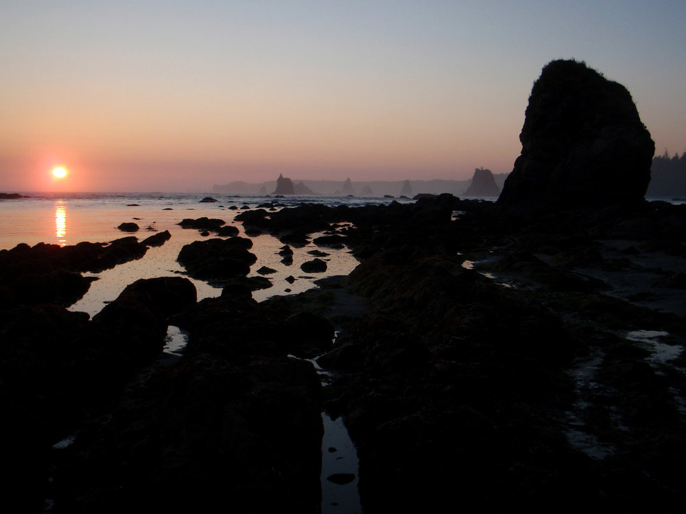 """Sunset at Olympic National Park — site of the """"solo vigil"""" for most programs."""