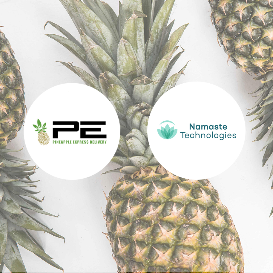 Namaste Announces Signing of 15% Equity Acquisition of Same-Day Cannabis Delivery Platform, Pineapple Express Delivery Inc. -