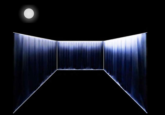 Tillett Lighting Design  +  Gans Studio  Photovoltaic thread woven into a fence to produce a glowing social space.