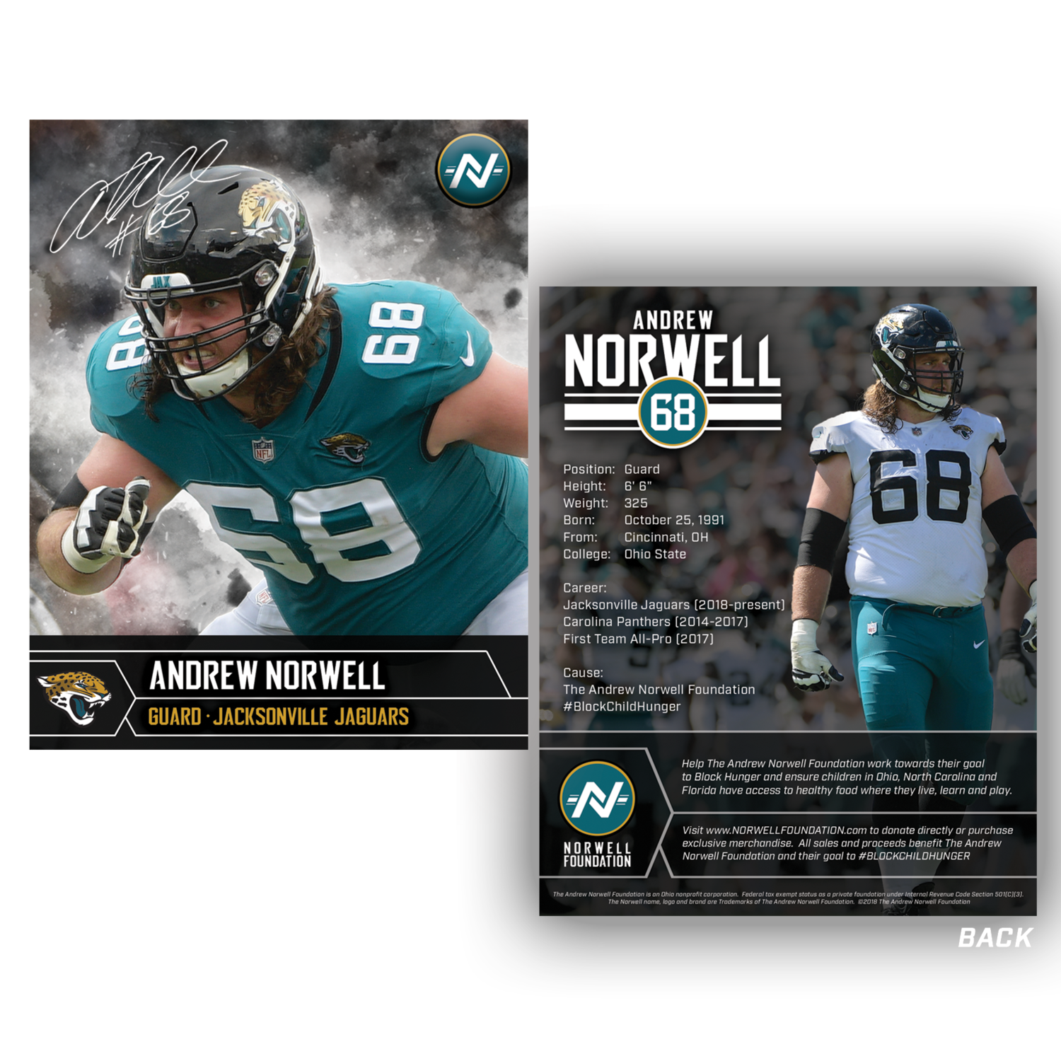 super popular 6f84d 5dd4c Andrew Norwell Autographed Card — The Andrew Norwell Foundation