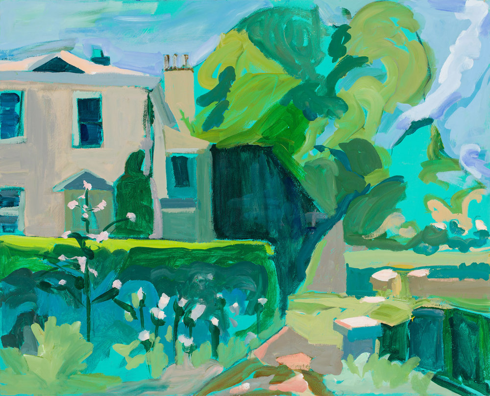 Chasing Green    Acrylic on Canvas 48x38.5 inches