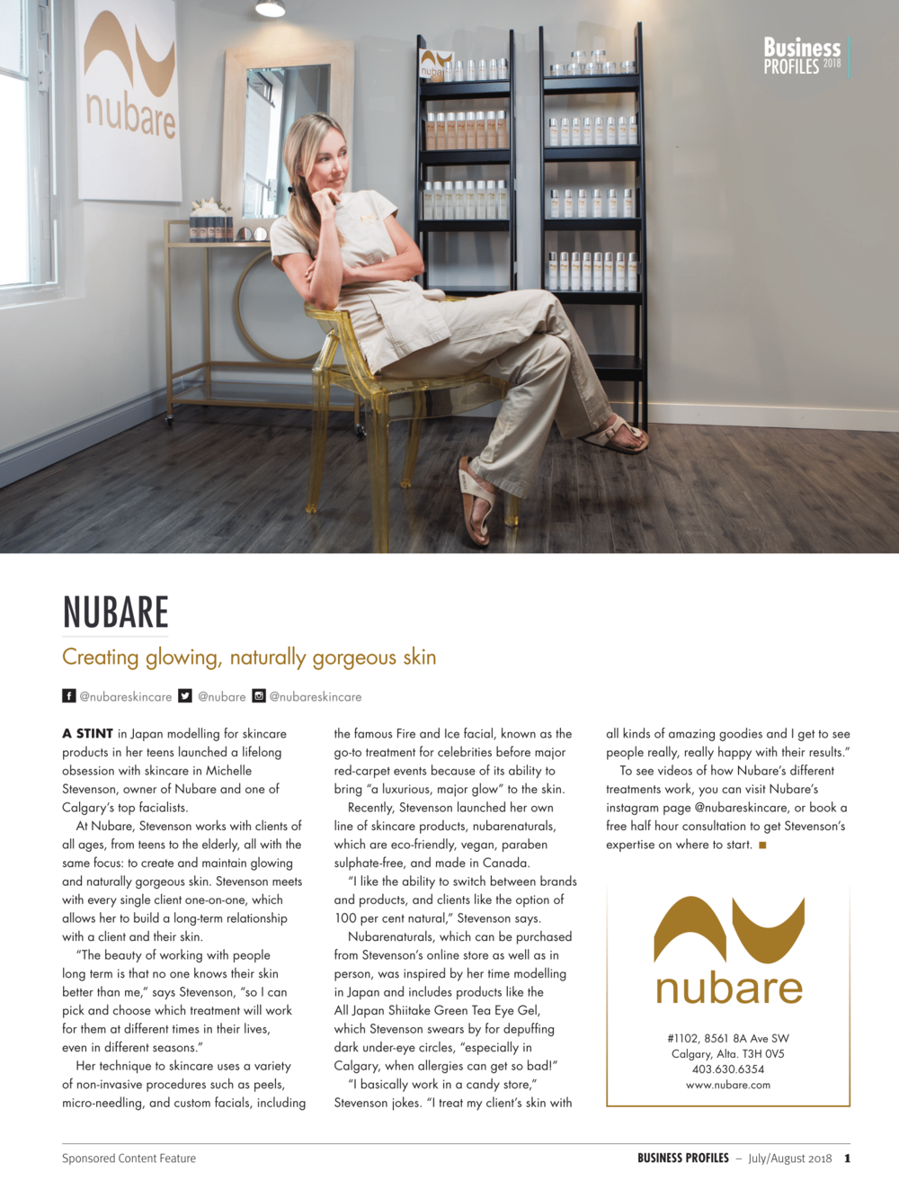 Nubare in Impact Magazine -
