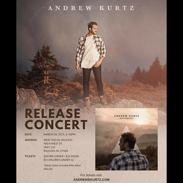 Come Out & Join Us | Andrew Kurtz Release Concert | March 24th 6-10pm 🎶