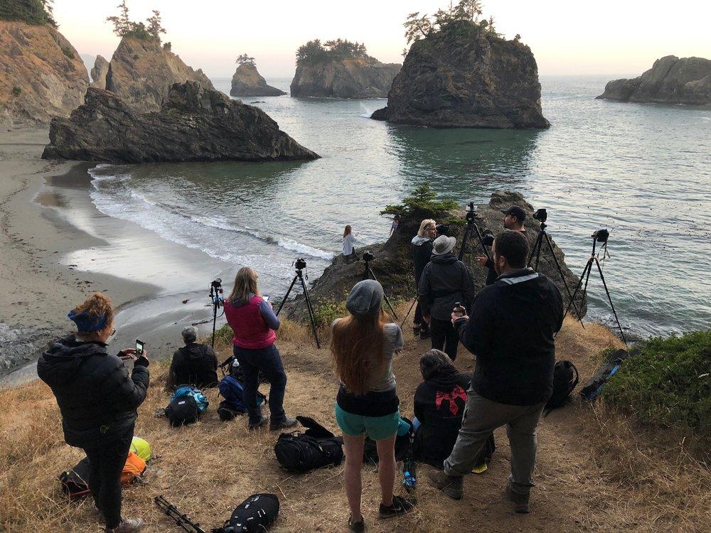 Oregon Coast Group Workshop July - 2018 - Secret Beach