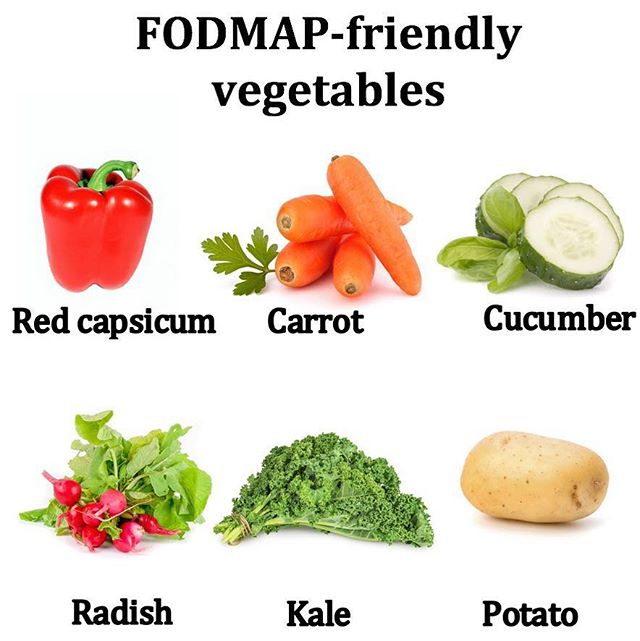 On a low-FODMAP diet to help treat IBS? Veggies aren't off the menu! 🍅🥕🥬 Here's a handful of low-FODMAP veggies to help you reach your 5 a day ✋🏼