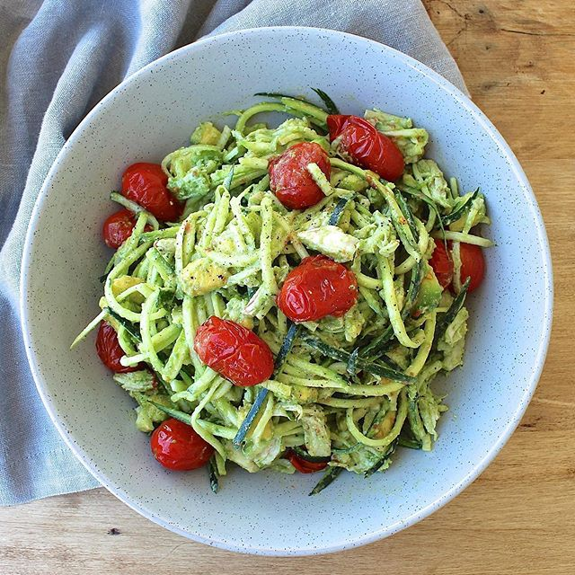Thank God it's Friday! 🎉 And thanks to the beautiful girls @thebitingtruth for the inspo for this pesto chicken, avocado and zucchini noodle dish I had for lunch a few days ago 🥑 I'm taking a break from my desk and enjoying my lunch break today in the glorious Sydney sunshine ☀️ How about you?