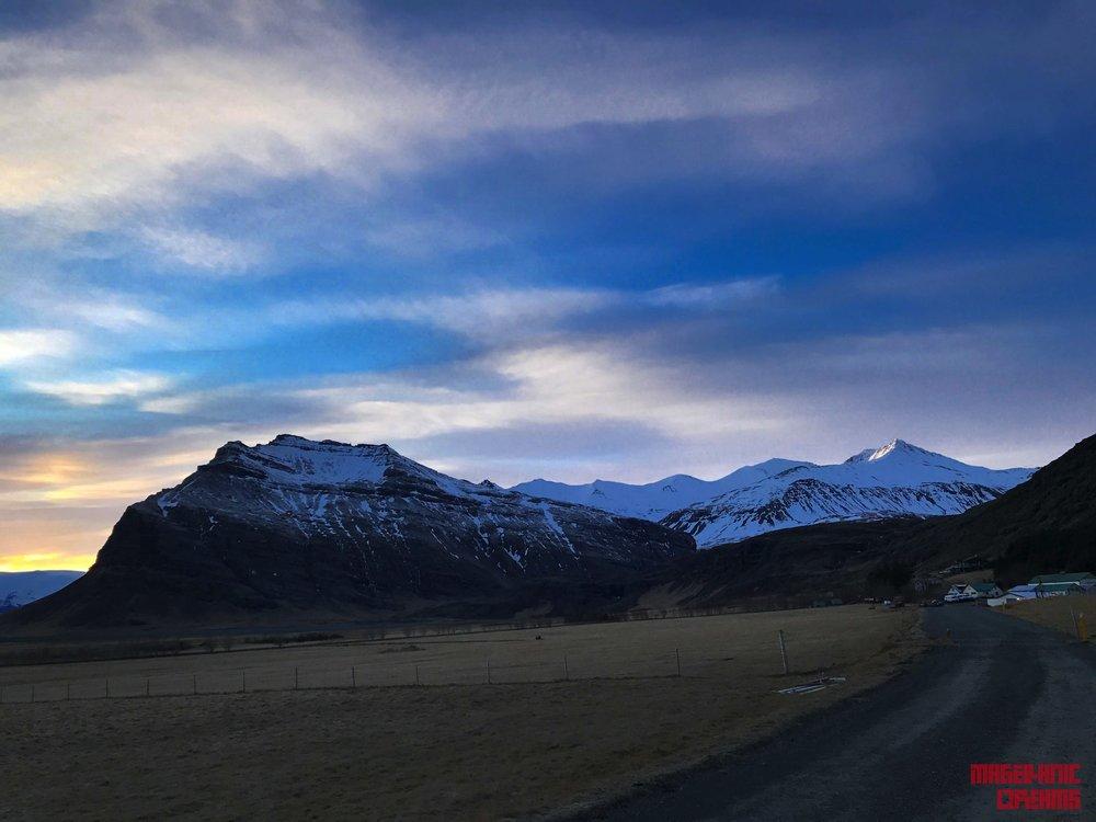 Mountain near Jökulsarlon