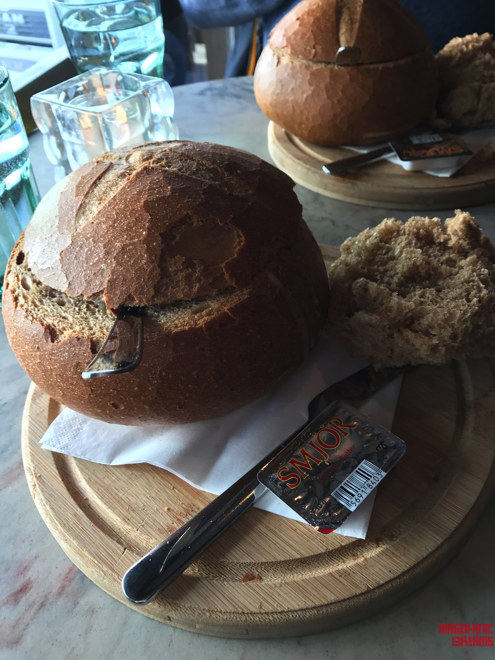 Soup in Bread at Svarta Kaffid