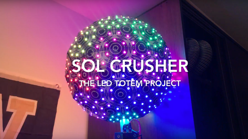 This is the build log for my LED totem project. It took months of work to build and I barely got it done in time for EDC 2016.
