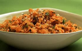 Carrot, Coriander and Coconut salad