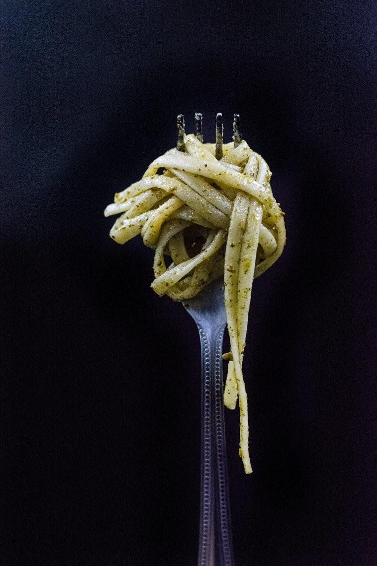 Creamy Silverbeet (or spinach) Pasta