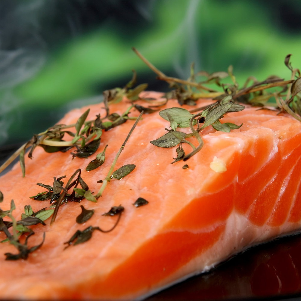 Baked Salmon, Fennel and Celery with Orange Dressing