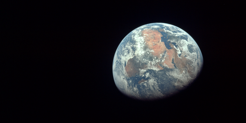 Apollo 11 Astronauts took this image on July 20, 1969 on their way to the moon.       Image: NASA