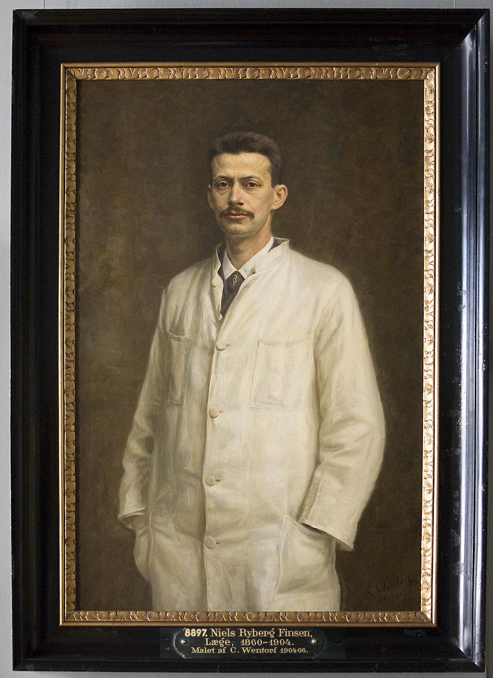 Figure 1  - Niels Finsen was awarded the 1903 Nobel Prize in Medicine.