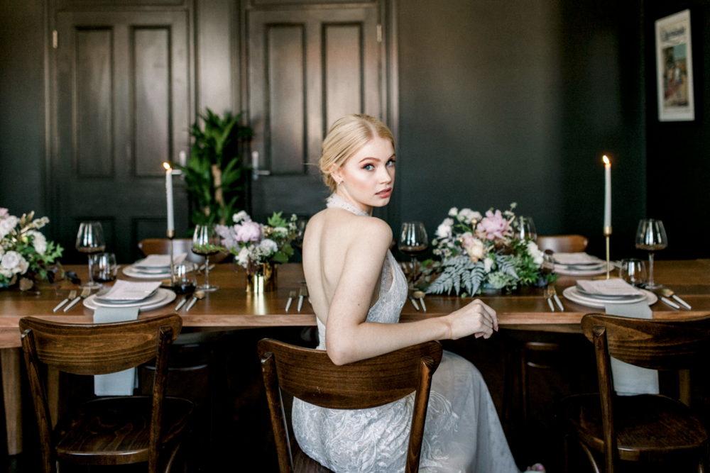 Our stunning model  Ella  in this elegant George Wu bridal gown.