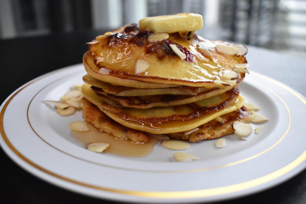 Blueberry Cheesecake Pancakes -