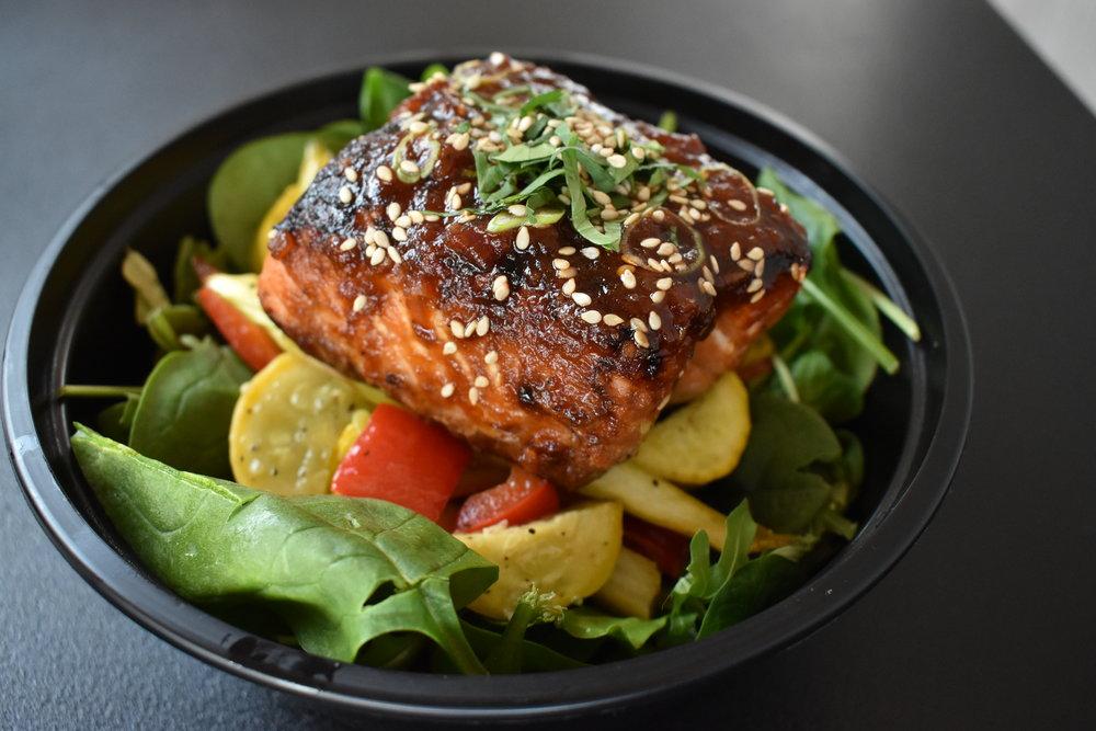 Ginger-Sesame Glazed Salmon -