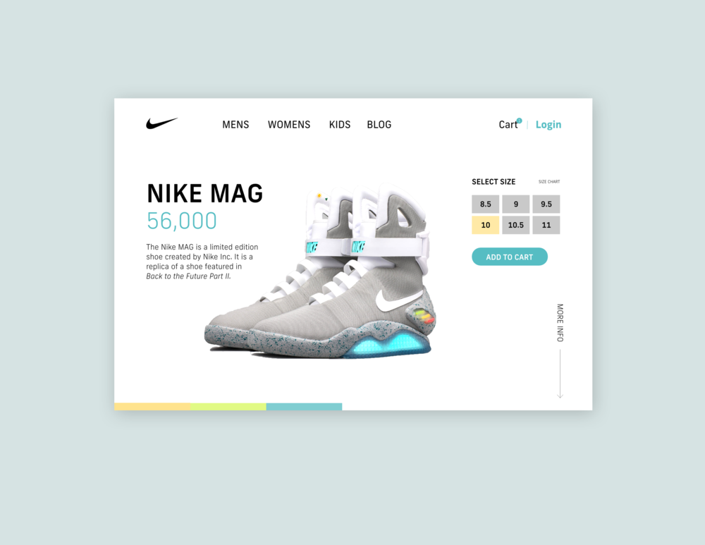 Concept for Nike Product Landing Page  // January 13, 2019