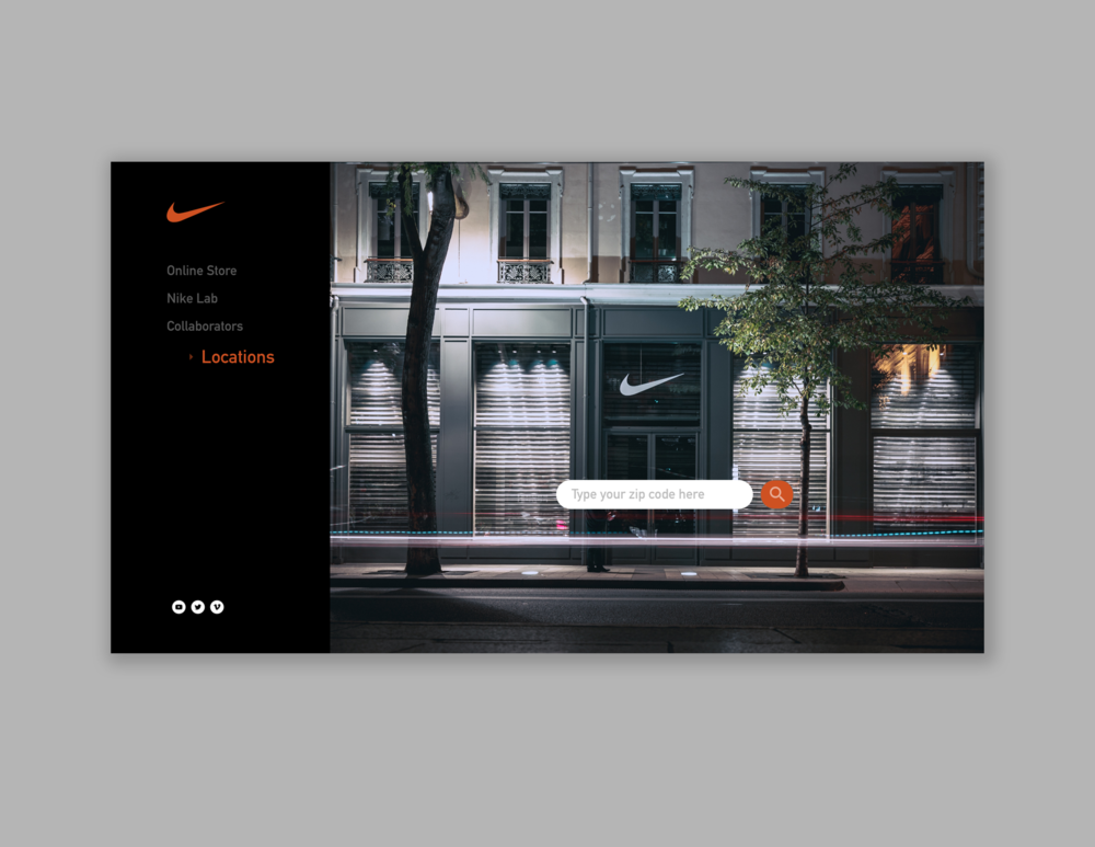 Nike Locations Landing Page  // January 19, 2019