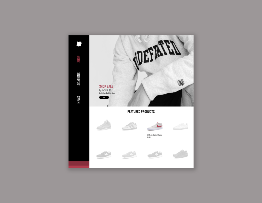 Concept for Undefeated landing page  // February 4, 2019