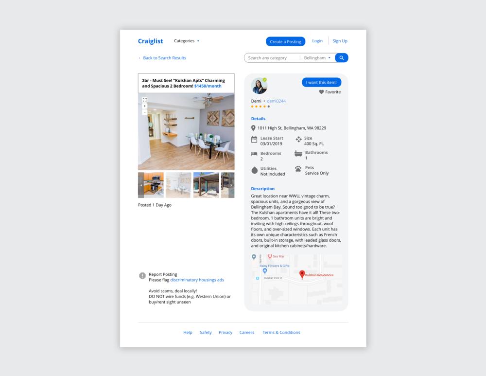 Craigslist Redesign // UX Capstone Project   2018
