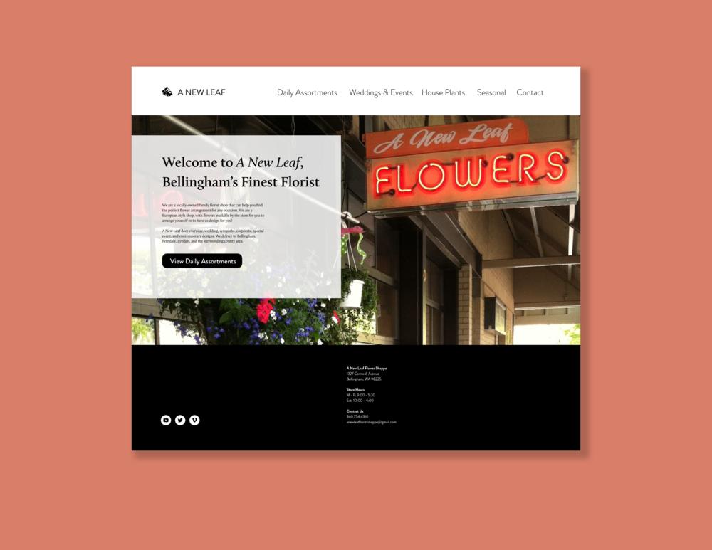 A New Leaf  // Desktop Web Redesign  2018