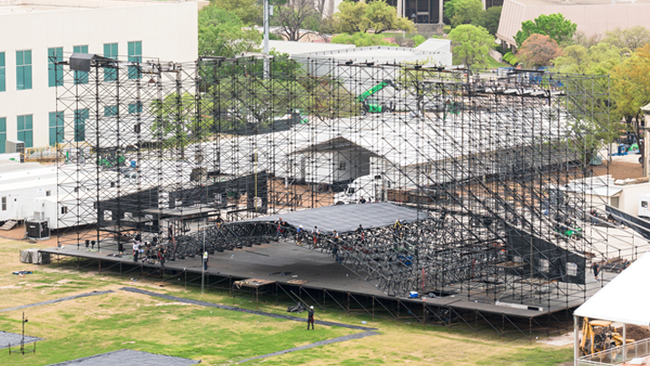 Scaffolding - The workhorse of the staging world. With almost infinite combinations, anything you need, we can build.