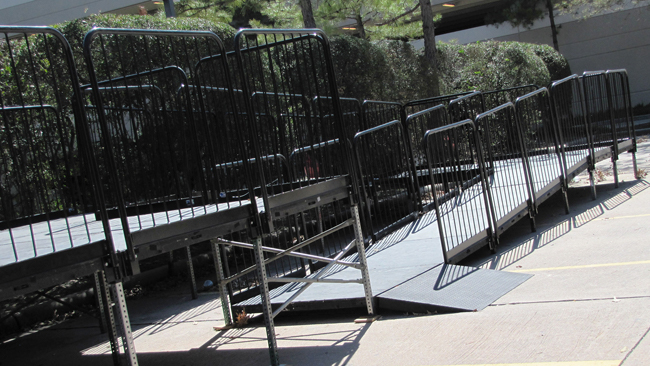 ADA Ramps - Help make sure everyone can see the show easily and safely.