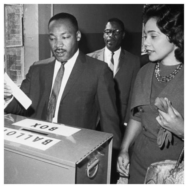 Happy MLK day! It's a good a day to make sure you're doing everything you can to give everybody in your life has access to the ballot, whether that be by helping them access logistical support or information.
