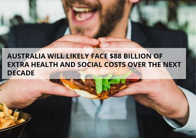 If nothing is done to curb the growth of #obesity and low-exercise or sedentary #lifestyles then Australia is facing a grim future 🍟🍦🍫 One of our main goals with PMSO is to change the ways #Australia looks at #physical activity - not just as playing #sport but as a way to seriously benefit their #health and #wellbeing 🌈🌴