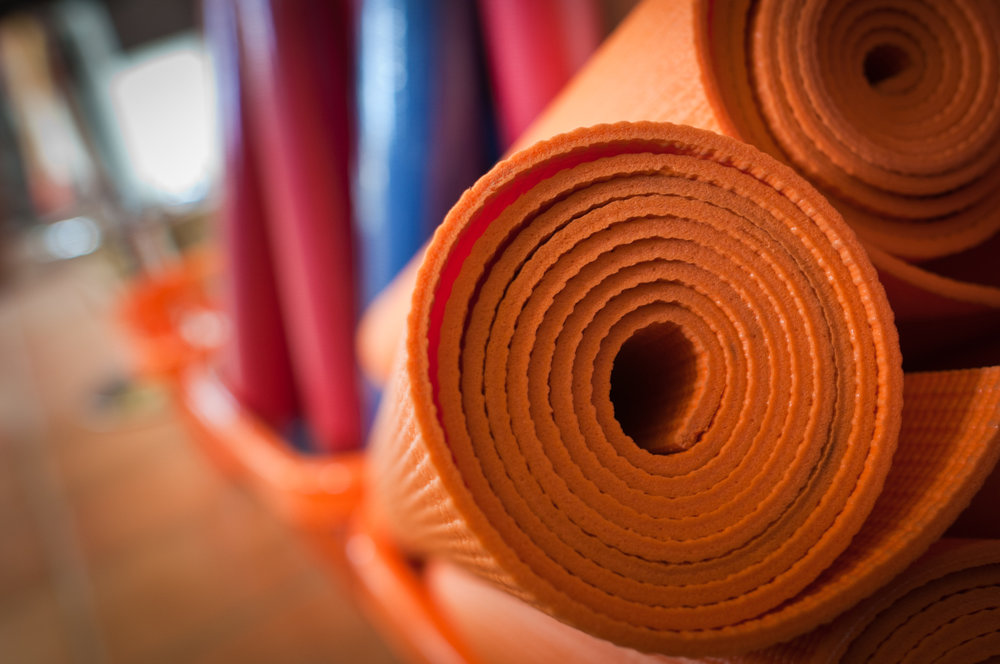 Yoga mats and towels for rent