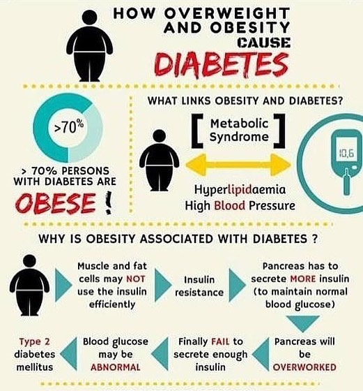 How bring #overweight and #obesity causes #diabetes. #understanding #health #preventthepreventable || repost from @dr_anthonypoth