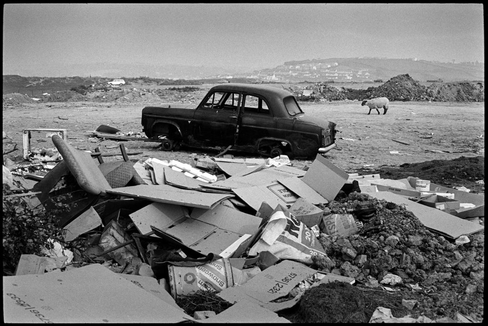 Northam rubbish dump, Northam Burrows, Westwood Ho! August, 1973. Documentary photograph James Ravilious for the Beaford Archive © Beaford Arts