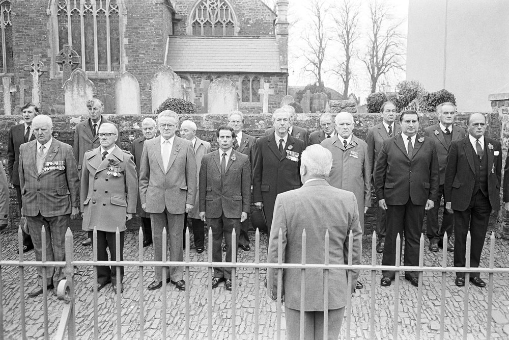 Remembrance Sunday parade, Chulmleigh, 1987