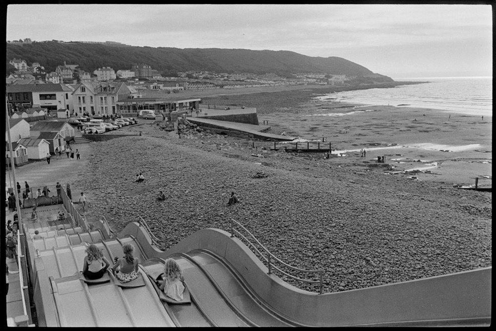 Giant Slide (Astroglide) at seaside, Westward Ho! Aug 1975