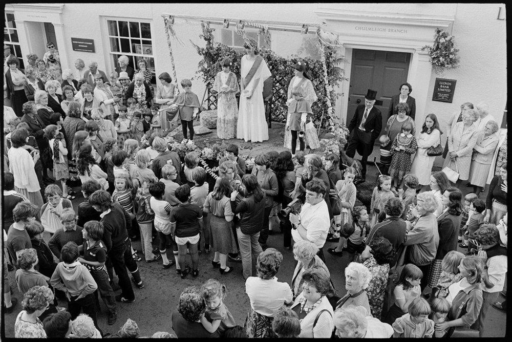 Fair queen parading, Chulmleigh fair.  Chulmleigh, Aug 1981